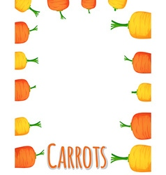 Border design with fresh carrots vector