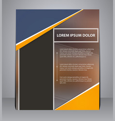 Business brochure flyer design in a4 size vector