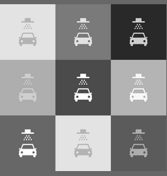 car wash sign grayscale version of popart vector image