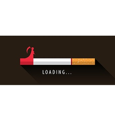 Cigarette loading to death vector image
