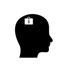 Clever brain vector