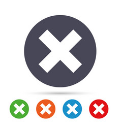 Delete sign icon remove button vector