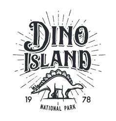 dinosaur island logo concept Stegosaurus vector image