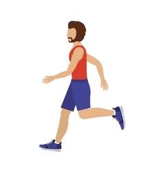 Fitness man training vector