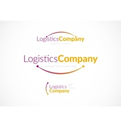 flat logo template for logistics vector image