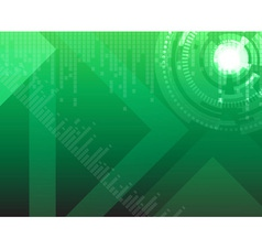 Hi tech green background vector image