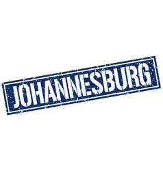 Johannesburg blue square stamp vector
