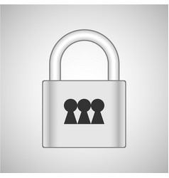 lock 3x vector image
