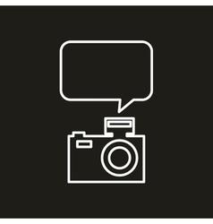 mobile social media icon vector image