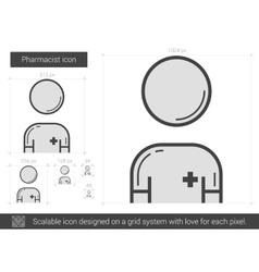 Pharmacist line icon vector
