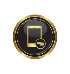 Phone icon with chat menu vector image