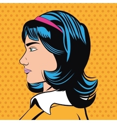 Pop art design of woman cartoon vector image