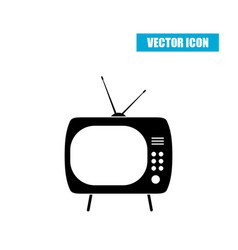 Retro tv icon isolated on white background vector