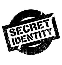 secret identity rubber stamp vector image vector image