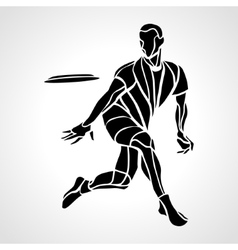 Sportsman throwing ultimate frisbee vector image vector image