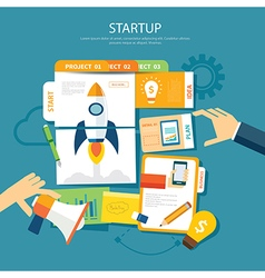 startup concept flat design vector image vector image