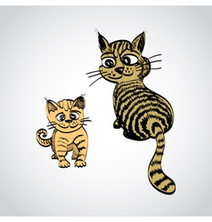 Tabby cats vector