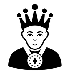 King Flat Icon vector image