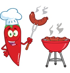 Chilli peppers cartoon vector