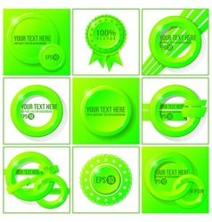 Green abstract set of backgrounds for your design vector