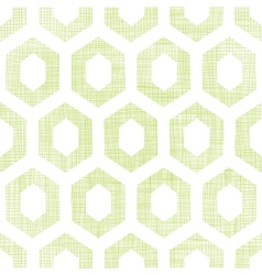 Abstract green fabric textured honeycomb cutout vector