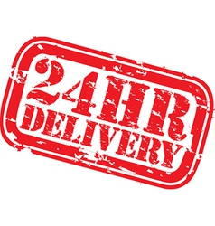 24hr delivery grunge stamp vector image