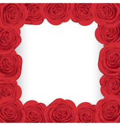 Red roses frame vector image
