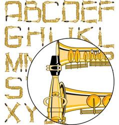 saxophone font vector image