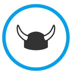 Horned helmet icon vector