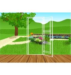 opening door vector image