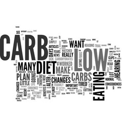 a low carb diet worked for me text word cloud vector image