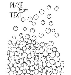 Abstract black and white sketch background vector