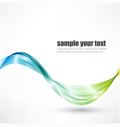 abstract wave background blue and green vector image