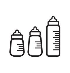 baby bottles vector image
