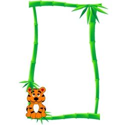 Bamboo banner vector