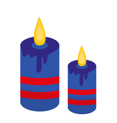 Blue candles icon flat style isolated on white vector