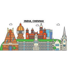 Chennai india hinduism city skyline vector