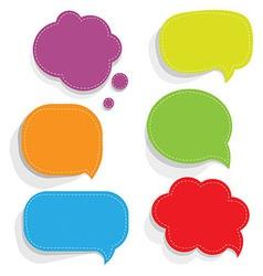 Color Paper Speech Bubbles vector image vector image
