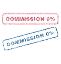 Commission 0 percent textile stamps vector