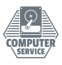 computer service logo simple style vector image