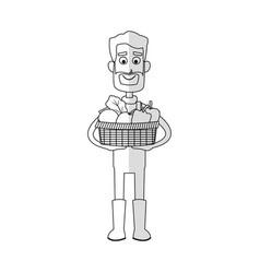 gardening man icon vector image