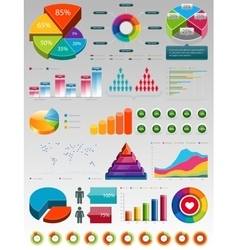 Glossy Colorful Infographic Elements vector image vector image