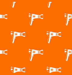 hairdryer pattern seamless vector image