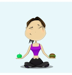 Hard to choose vector image vector image