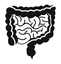 Intestines icon simple style vector