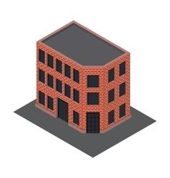 isometric building icon vector image