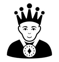 King flat icon vector