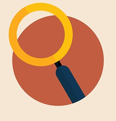 Magnifying glass and globe vector image vector image