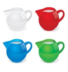 milk jug set vector image