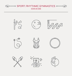 Rhythmic gymnastics icon set vector